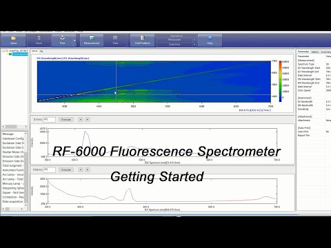 Shimadzu RF-6000 Fluorescence Spectrometer - Getting Started