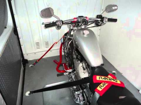 How To Ratchet Strap A Motorcycle Evenly Across The Bike