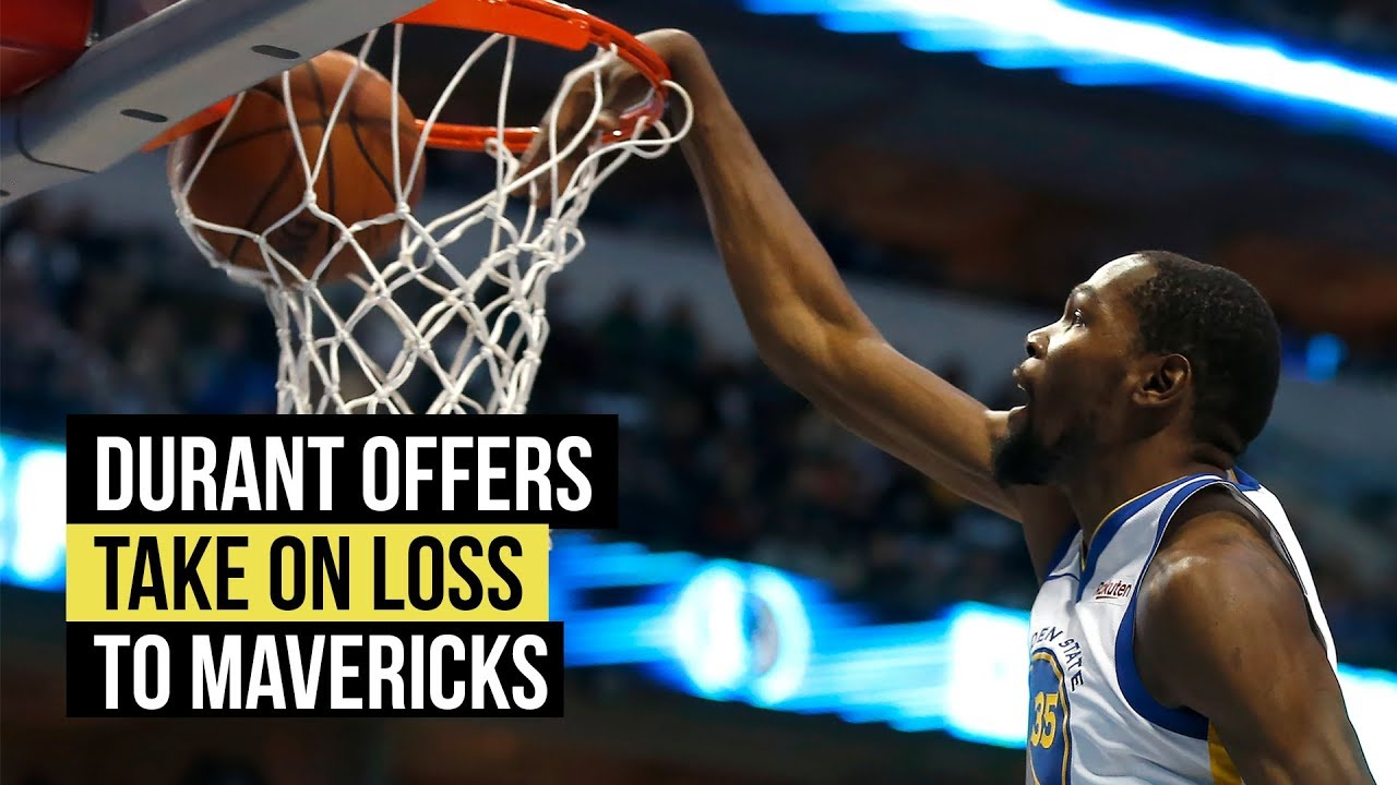 Warriors' Kevin Durant on the loss to the Dallas Mavericks