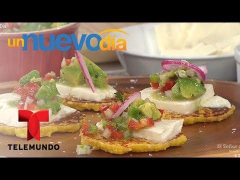 Receta de cocina: Cachapa con Queso Guayanés y Guasacaca | Un Nuevo Día | Telemundo