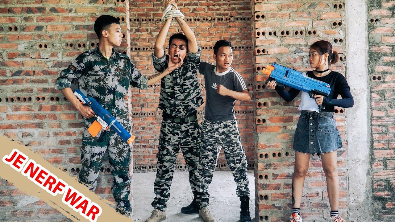 JE Nerf War: Girl SEAL Warriors Nerf Guns Rescue Boyfriend Betrayed Love Battle