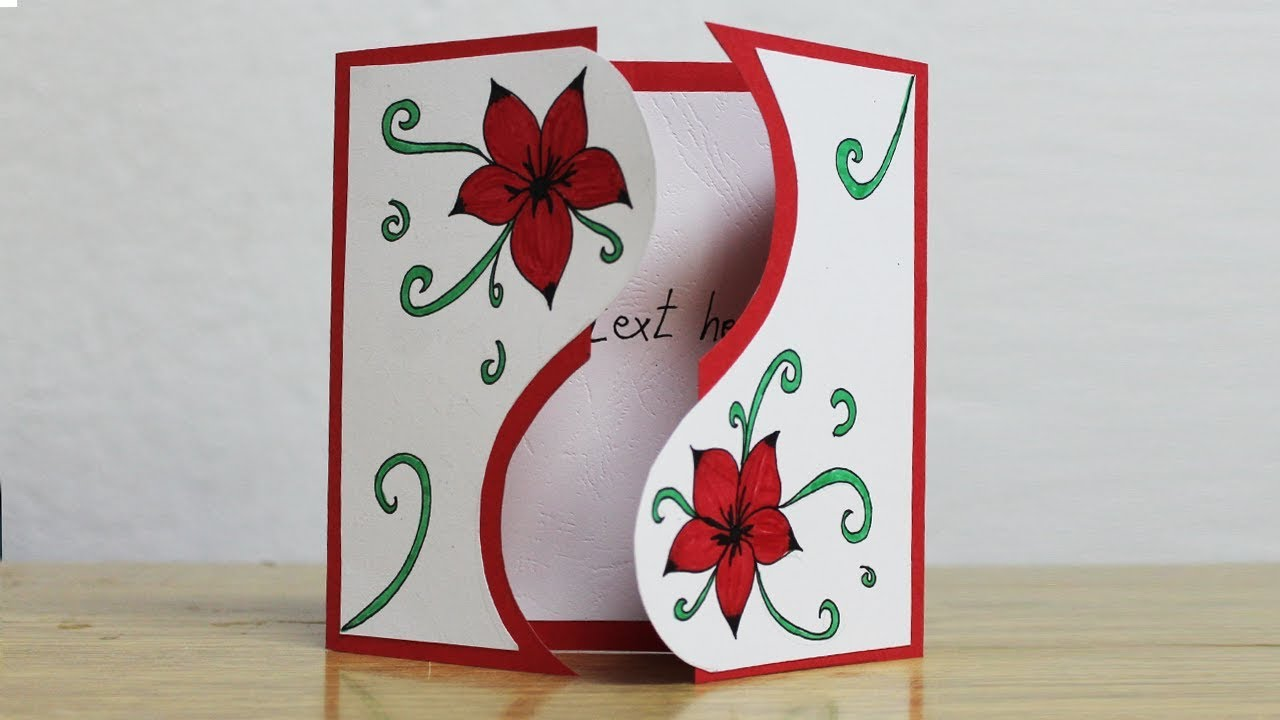 Greeting Card Making Ideas Latest Greeting Cards Design Youtube