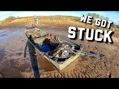 Open Water Duck Hunting | We got the Boat STUCK