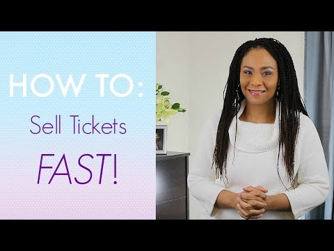 How To Sell Tickets FAST! [Event Planning Tips]