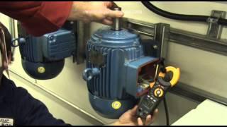 Moteur à induction triphasé - Essai d'un moteur 600 volts avec le 120 volts c.a
