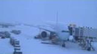 Toronto Pearson International Airport during a winterstorm