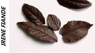 как сделать листочки из шоколада