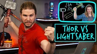 Thor vs. Lightsaber | Because Science Footnotes