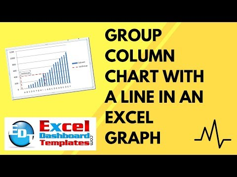 Group Column Chart with a Line in an Excel Graph Dashboard (How-to Tutorial)