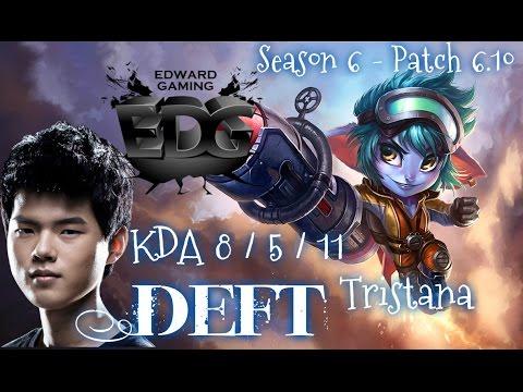 EDG Deft TRISTANA ADC vs Ezreal - Patch 6.10 KR   League of Legends