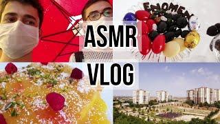 Yemekli Günlük VLOG ASMR Türkçe | Rahatlatıcı Sesler | Türkçe ASMR | Vlog asmr Yemek asmr