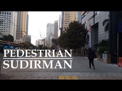 Walking Around Jakarta ~ Pedestrian (Trotoar ) Jalan Jend Sudirman from Atmajaya University