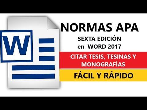cÓmo-citar-tesis,-tesinas-o-monografÍas-con-normas-apa-sexta-ediciÓn-word-2017