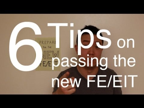 Vlog 3: How to Prepare for the NEW FE/EIT (years after college)