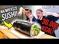 NAJWIĘKSZA ROLKA SUSHI NA ŚWIECIE! *30.000 KCAL!*