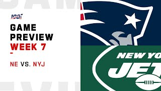 New England Patriots vs. New York Jets Week 7 NFL Game Preview