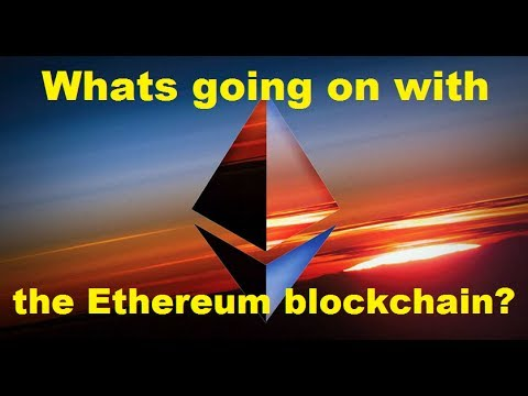 Whats going on with the Ethereum blockchain?