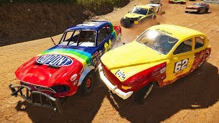 NASCAR LEGEND JEFF GORDON DEMO DERBY RACING! - Next Car Game Wreckfest