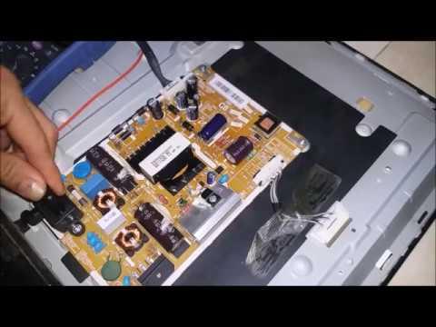 Cara memperbaiki TV LED SAMSUNG berkedip - kedip,tegangan drop  bukan karena elco