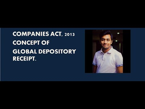 CONCEPT OF GLOBAL DEPOSITORY RECEIPT.