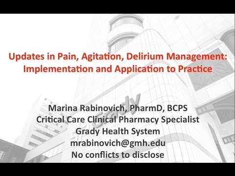 Southeastern Critical Care Summit 2015 - Marina Rabinovich, PharmD BCPS