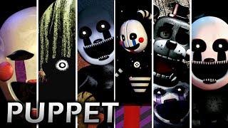 Evolution of Puppet in FNAF (2014-2018)