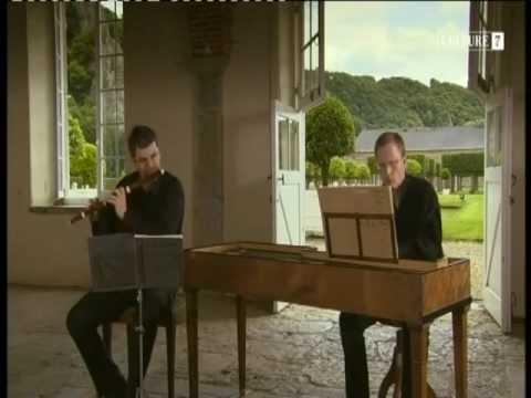 J.S. Bach, J.Ch.F. Bach: Sonatas for Flute and Harpsichord [B.J. Steens-J.A. Brech]
