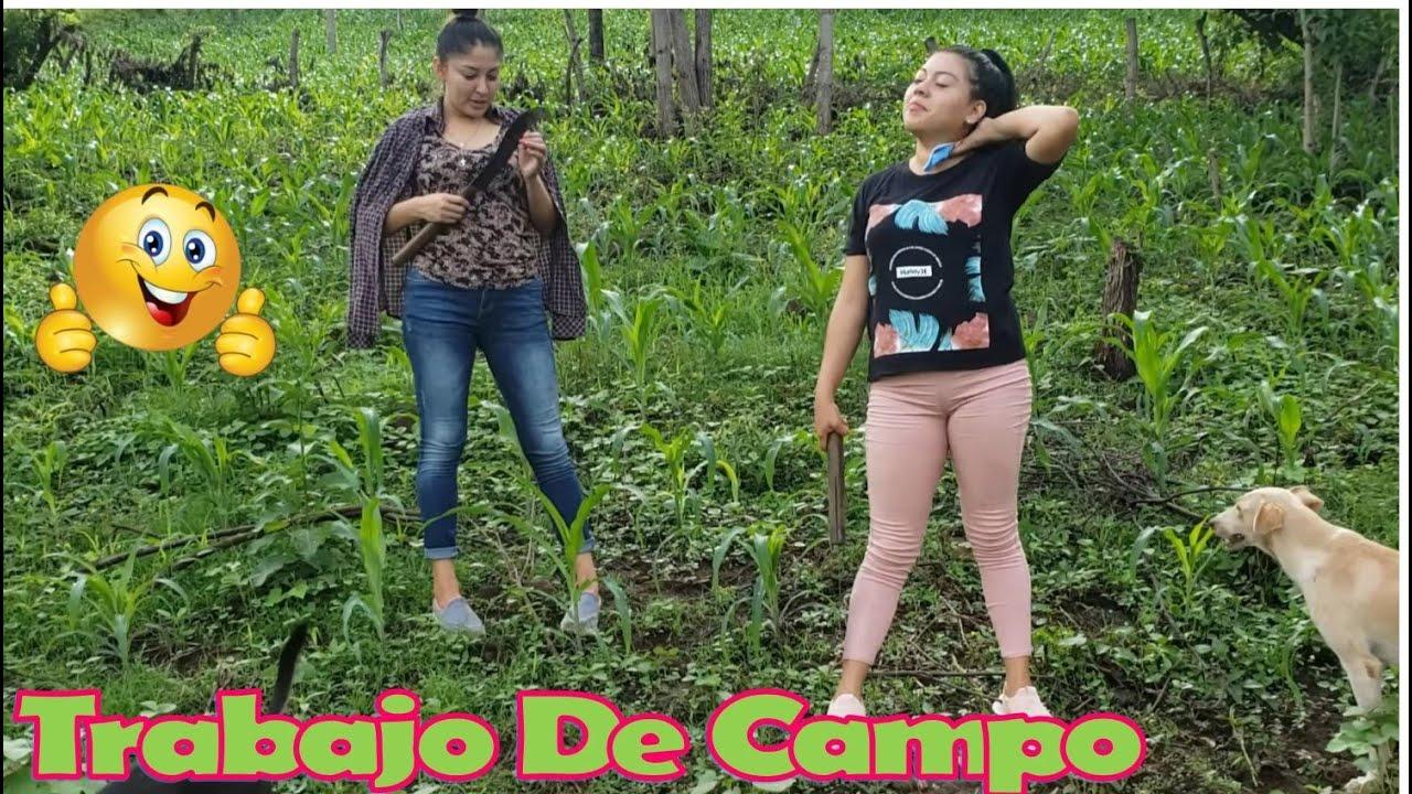 -Chicas Haciendo Trabajo De Campo,Chapeando La Milpa-💪-