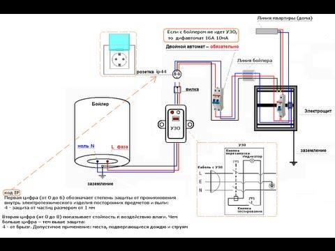 видео: Электрическая схема подключения бойлера