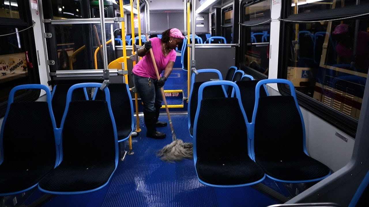 CTA bus cleaning is detail focused  YouTube