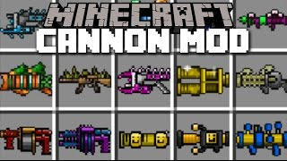 Minecraft CANNON WAR MOD / FIGHT THE WAR WITH CANNONS AND KILL YOUR ENEMIES!! Minecraft