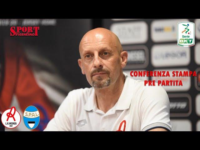 CALCIO - CONFERENZA STAMPA DOMENICO DI CARLO, LR Vicenza vs Spal