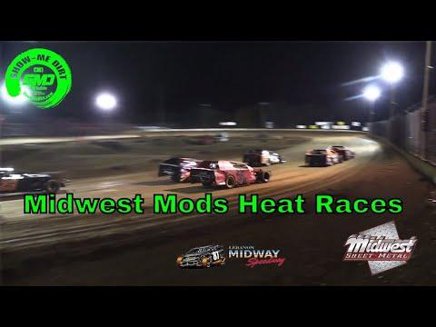 Midwest Mods Heat Races - Malvern Bank Cash Money SuperDirt - Lebanon Midway Speedway 10-19-2019