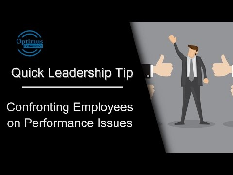 Confronting Employee Performance Issues
