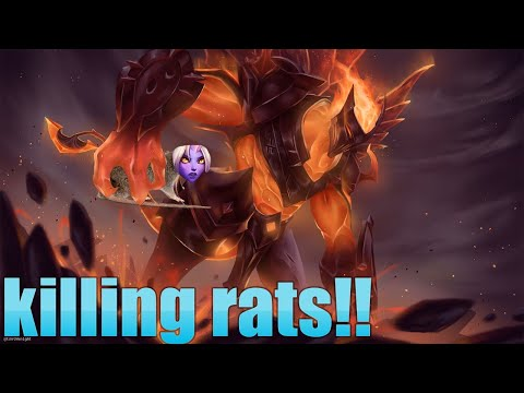 LEAGUE OF LEGENDS INFERNAL GALIO SKIN KILLING RATS GAMEPLAY/HIGHLIGHTS!!!!!
