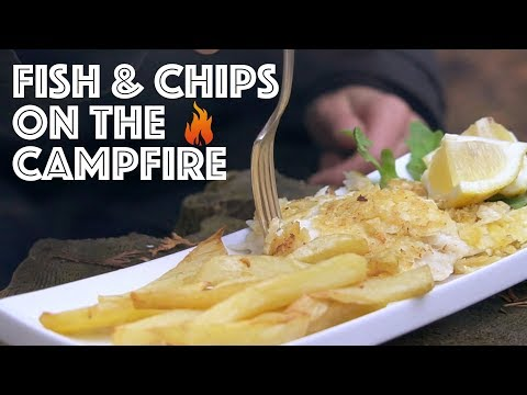 Campfire Cooking. Fish With Salt And Vinegar Chips