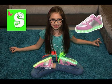 Посылка из КИТАЯ АЛИЭКСПРЕСС. СВЕТЯЩИЕСЯ КРОССОВКИ Parcel from China Aliexpress  Led Light Shoes