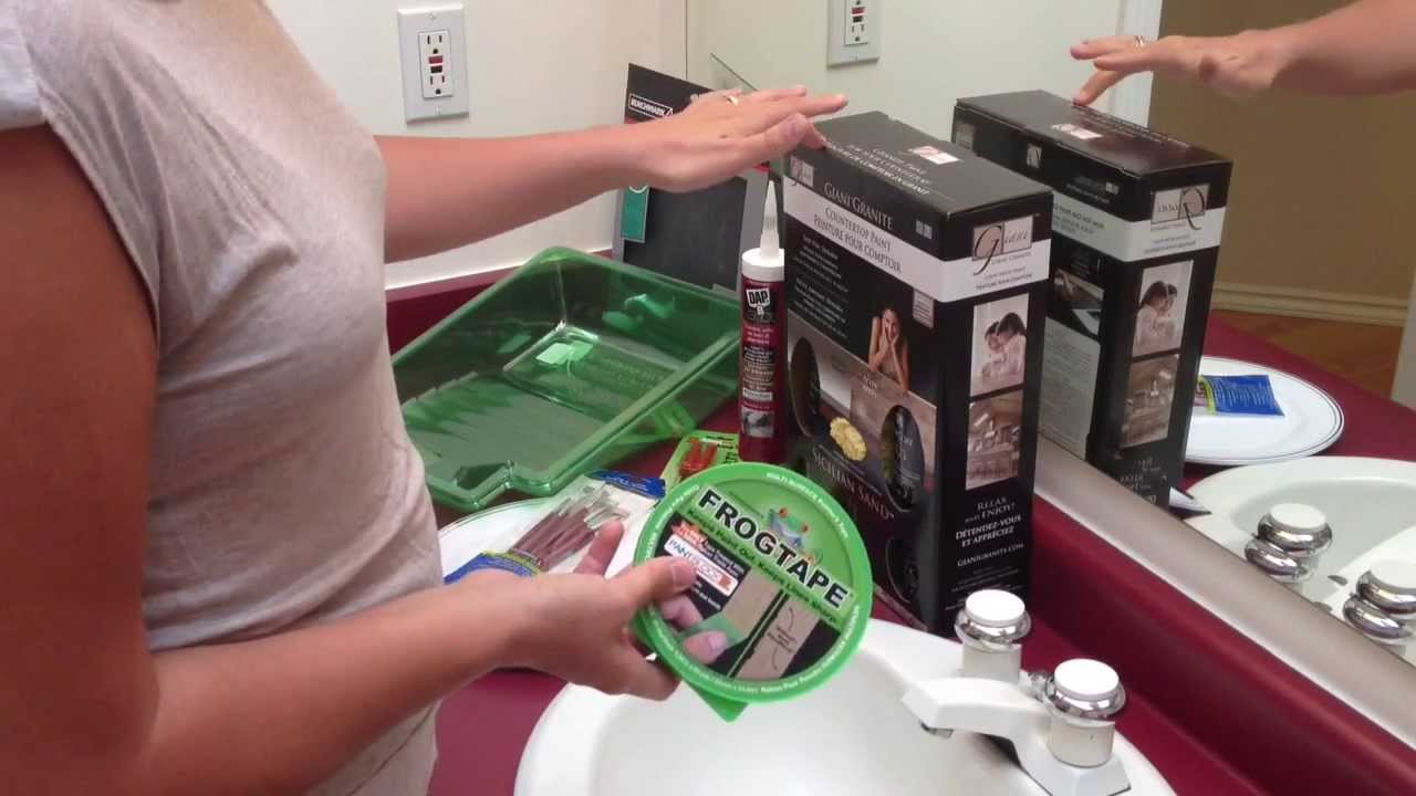Giani Countertop Paint Youtube : Painting Countertops with Giani Paints, Part 1 of 5 What You Will Need ...