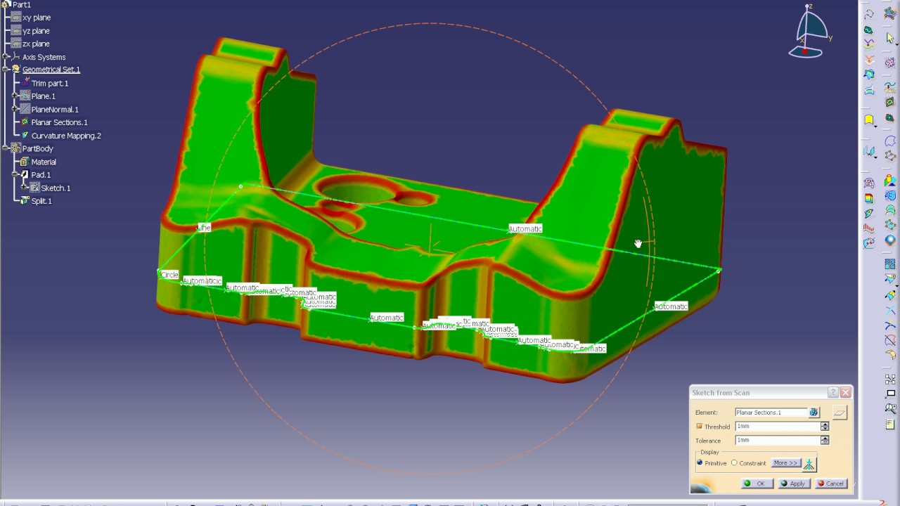 2??cad??? Digital Simulation Catia From 3d Scanning To Cad 2 2 Trim Steel Reconstruction Short Commented