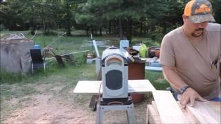 Making a log into a cutting board
