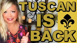 Bringing Tuscan Style Back! Let's Decorate!