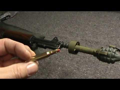 M7 Grenade launcher set-up for M1 Garand