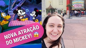 COMO É A MICKEY & MINNIE'S RUNAWAY RAILWAY NO HOLLYWOOD STUDIOS! | VPD ORLANDO