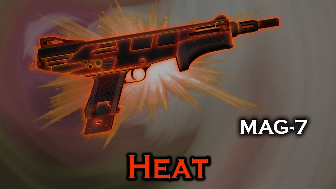mag 7 skins Heat MAG-7 StatTrak stickers skin preview FN/MW/FT/WW/BS - YouTube