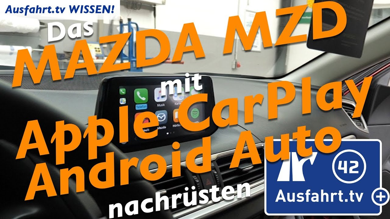 mazda mzd connect mit apple carplay und android auto. Black Bedroom Furniture Sets. Home Design Ideas
