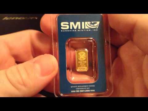 Sunshine Mint: 1Gram .9999 gold bar