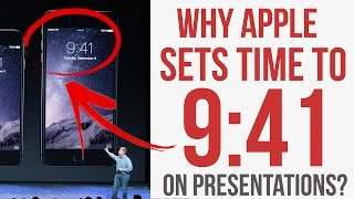 Why Apple sets the Time to 9:41 on IPhone while Keynote?