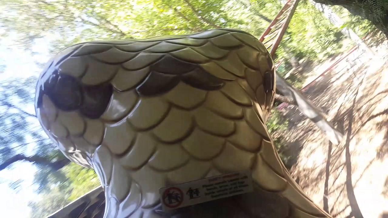 Timber Twister Coaster POV 2x Around   Gilroy Gardens - YouTube