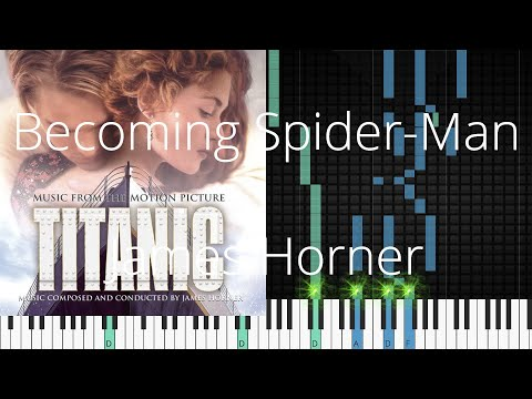 🎹 Becoming Spider-Man, James Horner, Synthesia Piano Tutorial mp3