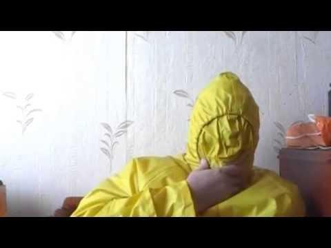 Breathcontrol in rainwear hood`s 9